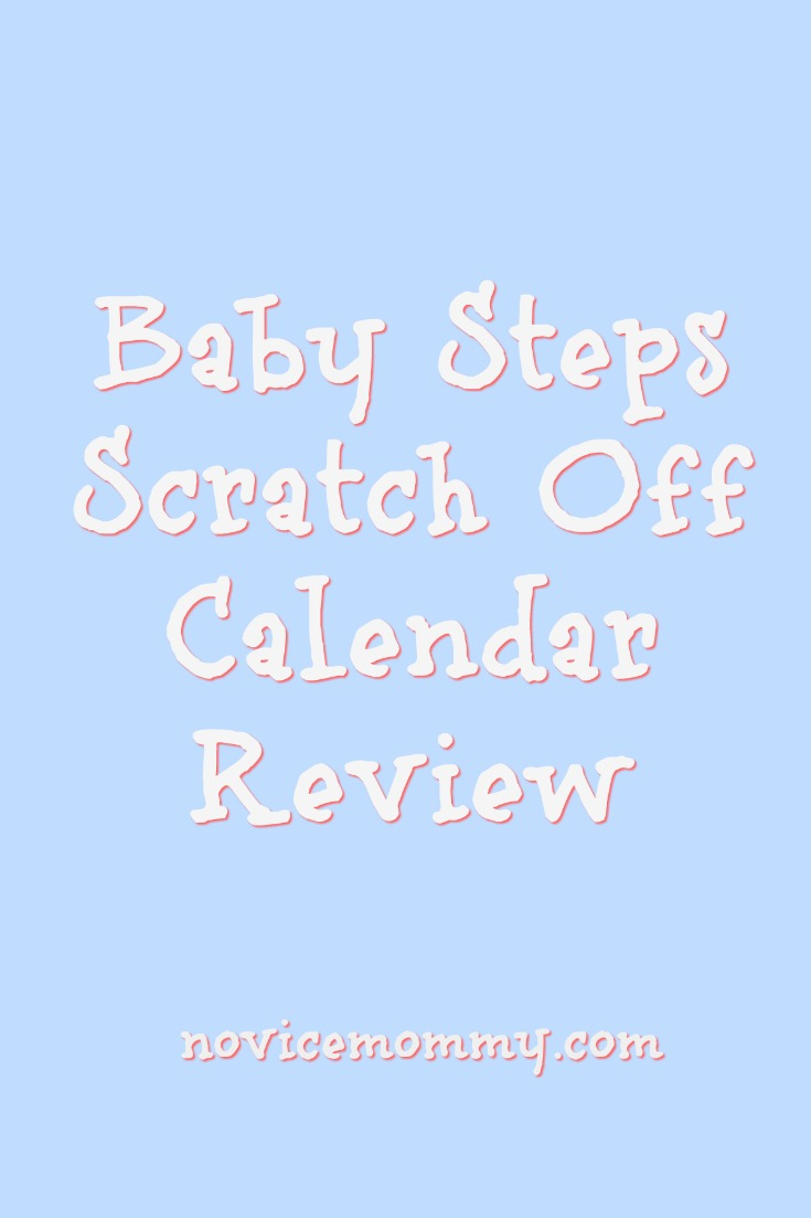 Baby Steps Scratch Off Calendar Review - Click to read about a fun way to track your pregnancy!