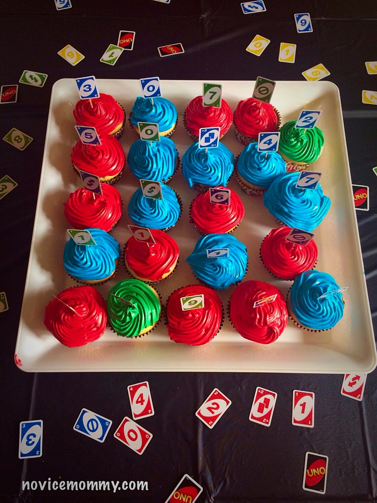 UNO Birthday Party. Cupcakes. Baby's First Birthday.
