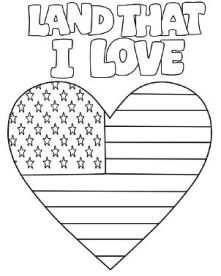 Land That I Love Coloring Page