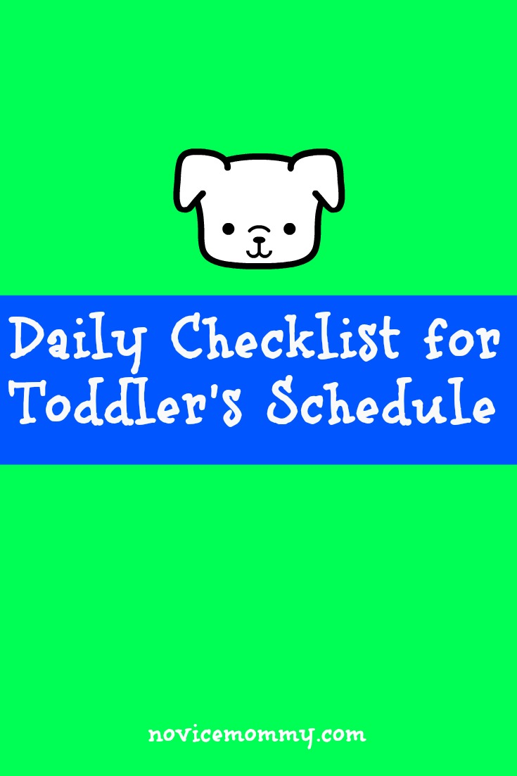 Daily Checklist for Toddler's Schedue
