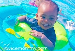 Pool Time: What's in Our Bag. Swimways Pool Float. Toddler Swim Activity.