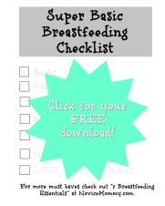 Super Basic Breastfeeding Checklist - Click for a FREE download